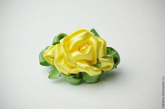 Комплекты аксессуаров ручной работы. Ярмарка Мастеров - ручная работа. Купить заколка для волос Желтые розы. Handmade. Заколка для волос