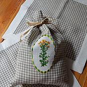 Для дома и интерьера handmade. Livemaster - original item Linen bag for herb