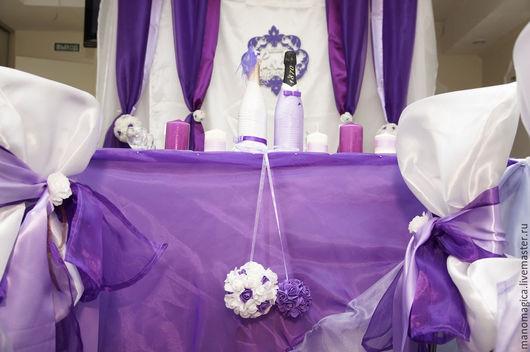 Свадебные аксессуары ручной работы. Ярмарка Мастеров - ручная работа. Купить Оформление свадьбы. Сиренево-фиолетовая свадьба. Handmade. полубусины