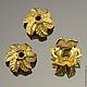 Шапочки для бусин в тибетском стиле Листья для использования в сборке украшений\r\nМатериал сплав\r\nЦвет имитация под золото