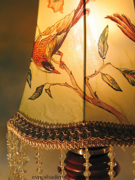 настольная лампа светильник настольный авторская лампа авторский светильник абажур ева шадрина