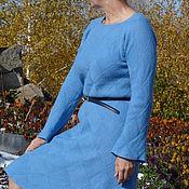 Одежда ручной работы. Ярмарка Мастеров - ручная работа Синее повседневное платье. Handmade.