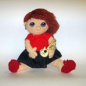 Куклы и игрушки ручной работы. Ярмарка Мастеров - ручная работа Вязаная кукла Карина - рок звезда. Handmade.