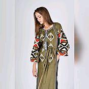 """Одежда ручной работы. Ярмарка Мастеров - ручная работа Летнее платье """"Foliage"""". Handmade."""