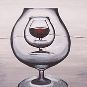 Картины и панно ручной работы. Ярмарка Мастеров - ручная работа Бокал вина. Handmade.