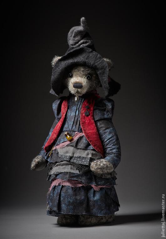 Мишки Тедди ручной работы. Ярмарка Мастеров - ручная работа. Купить Колдунья. Handmade. Темно-серый, колдунья, бархат