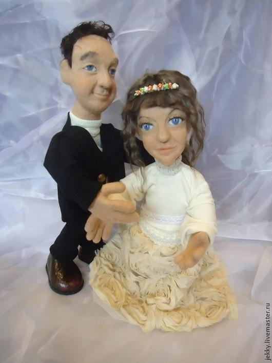 Подарки для влюбленных ручной работы. Ярмарка Мастеров - ручная работа. Купить Портретные куклы на заказ по фото- свадебная парочка. Handmade.