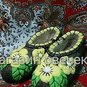 Обувь ручной работы. Ярмарка Мастеров - ручная работа Войлочные тапочки Солнечные. Handmade.