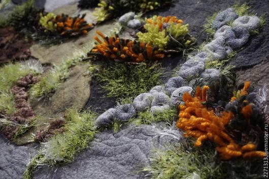 """Текстиль, ковры ручной работы. Ярмарка Мастеров - ручная работа. Купить Коврик """"Лесная полянка"""". Handmade. Разноцветный, Валяние"""