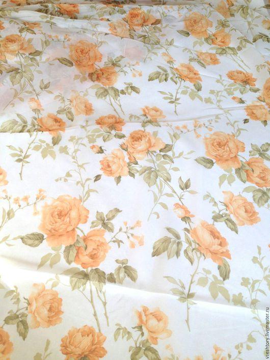 """Шитье ручной работы. Ярмарка Мастеров - ручная работа. Купить Шифон для штор """"Розовый сад"""". Handmade. Шифон, розы, тюль"""