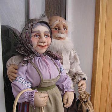 Куклы и игрушки ручной работы. Ярмарка Мастеров - ручная работа Бабушка рядышком с Дедушкой. Handmade.