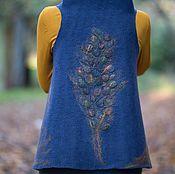 """Одежда ручной работы. Ярмарка Мастеров - ручная работа Цельноваляный жилет """"Древо жизни"""". Handmade."""