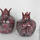 Статуэтки ручной работы. Керамическая ваза Пепельный гранат. NIBOQUA авторская керамика. Ярмарка Мастеров. Вазочка, темно-красный, глазури