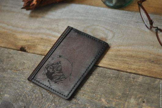 Обложки ручной работы. Ярмарка Мастеров - ручная работа. Купить Обложка для паспорта Mountain. Handmade. Коричневый, Пирография, обложка на загранпаспорт