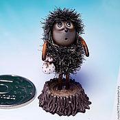 Мини фигурки и статуэтки ручной работы. Ярмарка Мастеров - ручная работа Ёжик в тумане. Handmade.