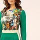 Платья ручной работы. Платье. San Sarafan. Интернет-магазин Ярмарка Мастеров. Авторское платье, дизайнерская одежда, зеленый цветок