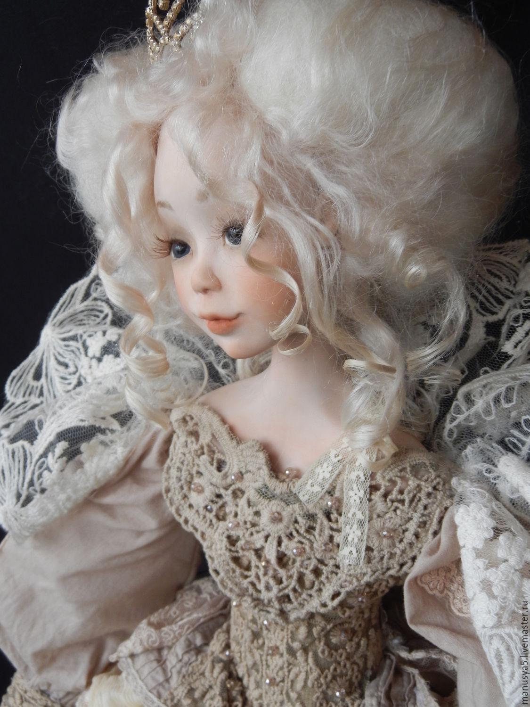 """Коллекционные куклы ручной работы. Ярмарка Мастеров - ручная работа. Купить Кукла """"Габриэлла"""". Handmade. Бежевый, козий тресс"""
