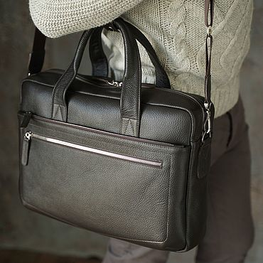 Bags and accessories handmade. Livemaster - original item Bag men`s leather