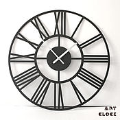 """Для дома и интерьера handmade. Livemaster - original item Большие настенные часы """"Циферблат"""" 50 см, металл. Handmade."""