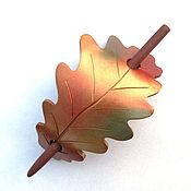 Украшения handmade. Livemaster - original item the pin oak. Golden autumn (oak leaves, Golden, hair pin shawl). Handmade.