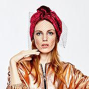 Аксессуары handmade. Livemaster - original item Velvet turban-transformer  hat hijab different colors. Handmade.