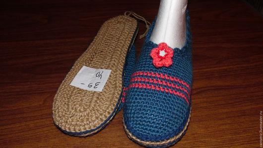 Обувь ручной работы. Ярмарка Мастеров - ручная работа. Купить Туфли крючком 39-40. Handmade. Вязаная обувь, тапочки
