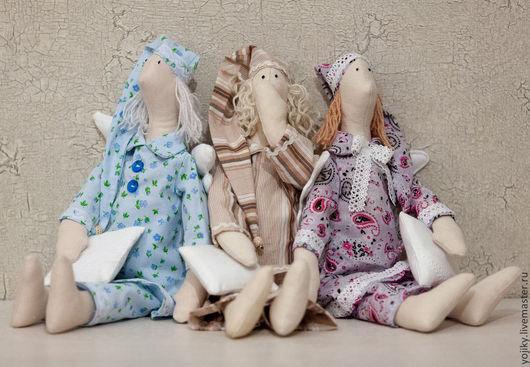 Куклы Тильды ручной работы. Ярмарка Мастеров - ручная работа. Купить Сонный ангел. Handmade. Сонный ангел, интерьерная игрушка