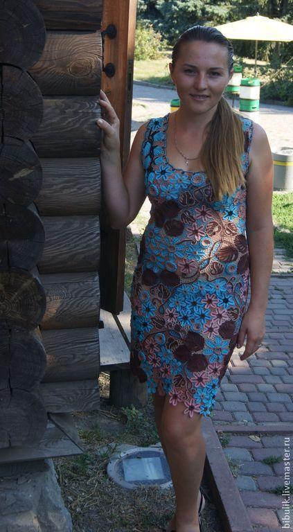 """Платья ручной работы. Ярмарка Мастеров - ручная работа. Купить Платье """" Загадка """" продано. Handmade. 100% хлопок"""