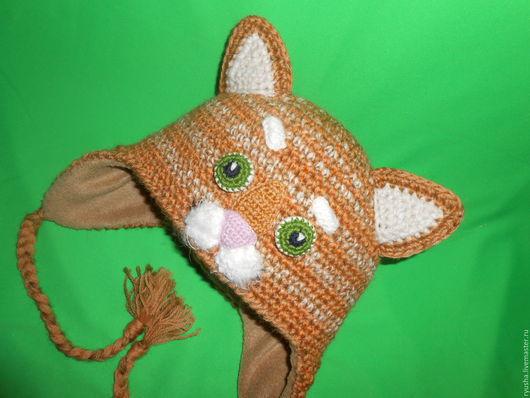 """Шапки ручной работы. Ярмарка Мастеров - ручная работа. Купить Зверошапка """" Кот"""". Handmade. Комбинированный, кошка, шапка с подкладом"""