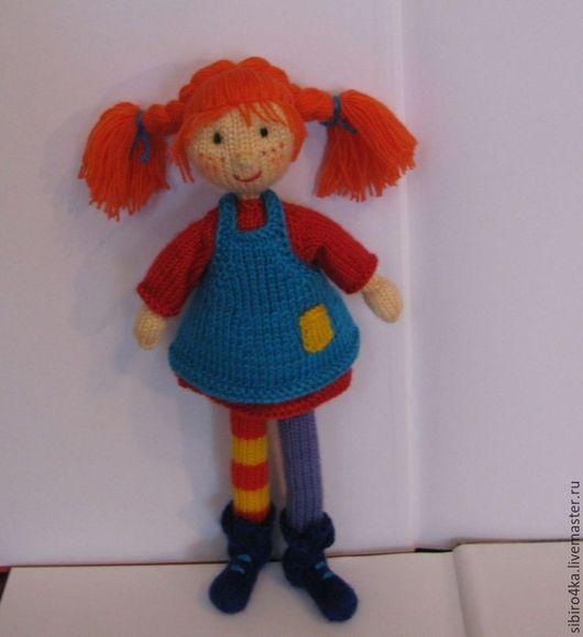 Сказочные персонажи ручной работы. Ярмарка Мастеров - ручная работа. Купить Пеппи Длинныйчулок. Handmade. Комбинированный, кукла в подарок