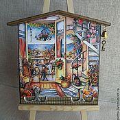 """Для дома и интерьера ручной работы. Ярмарка Мастеров - ручная работа Ключница-домик """"Уютный дом"""". Handmade."""