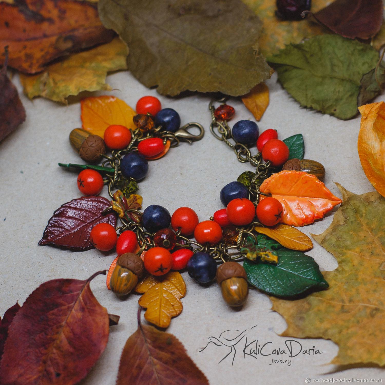 Осенний браслет, Браслет из бусин, Москва,  Фото №1