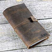 Канцелярские товары handmade. Livemaster - original item Leather travel notebook with removable notebooks. Handmade.