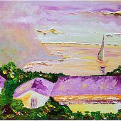 Картины и панно ручной работы. Ярмарка Мастеров - ручная работа И тихий шелест листьев у подножья гор, и аромат морской... Handmade.