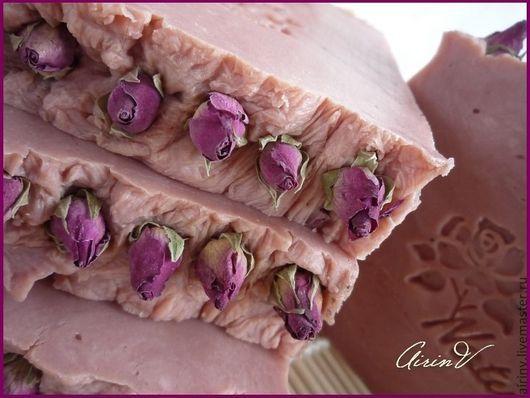 """Мыло ручной работы. Ярмарка Мастеров - ручная работа. Купить """"РОЗОВЫЙ КРЕМ"""" Натуральное мыло с нуля. Handmade. Розовый"""