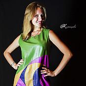 Одежда ручной работы. Ярмарка Мастеров - ручная работа Кожаное платье Sandy. Платье из натуральной кожи.. Handmade.