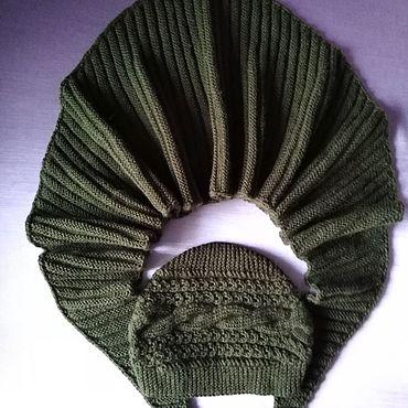 Аксессуары ручной работы. Ярмарка Мастеров - ручная работа Вязаные шапка-бини и снуд. Handmade.