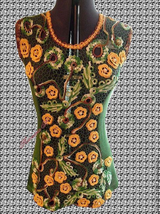 """Кофты и свитера ручной работы. Ярмарка Мастеров - ручная работа. Купить Туника """"Настроение """". Handmade. Зеленый, подарок женщине"""