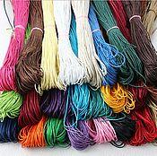 Материалы для творчества ручной работы. Ярмарка Мастеров - ручная работа 1,5 мм Шнур вощеный 8 цветов. Handmade.