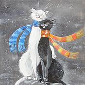 Картины и панно ручной работы. Ярмарка Мастеров - ручная работа Картина на шелке Любоff. Handmade.