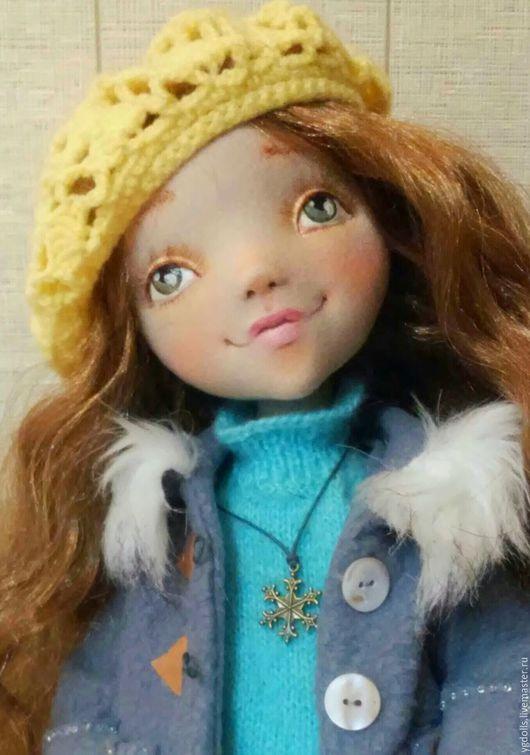 Коллекционные куклы ручной работы. Ярмарка Мастеров - ручная работа. Купить Текстильная кукла Есения (продана). Handmade. Лимонный, пряжа