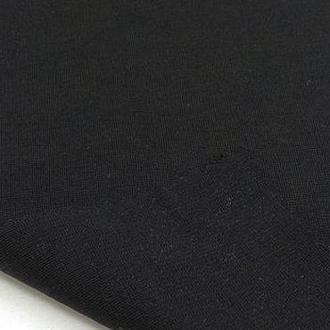 Материалы для творчества ручной работы. Ярмарка Мастеров - ручная работа Ткань натуральная трикотаж джерси черный. Handmade.
