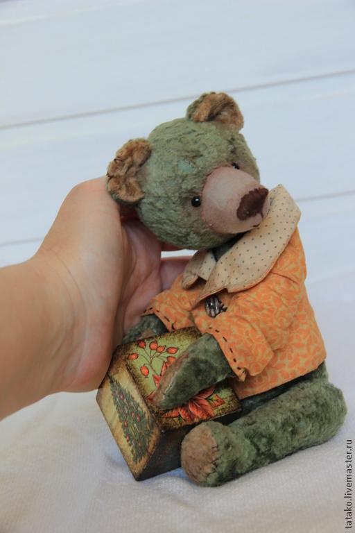 Мишки Тедди ручной работы. Ярмарка Мастеров - ручная работа. Купить мишка тедди Гришка. Handmade. Оливковый, Плюшевый мишка
