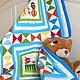 """Пледы и одеяла ручной работы. Ярмарка Мастеров - ручная работа. Купить Детское лоскутное одеяло (покрывало) """"Цирк"""". Handmade. Покрывало"""