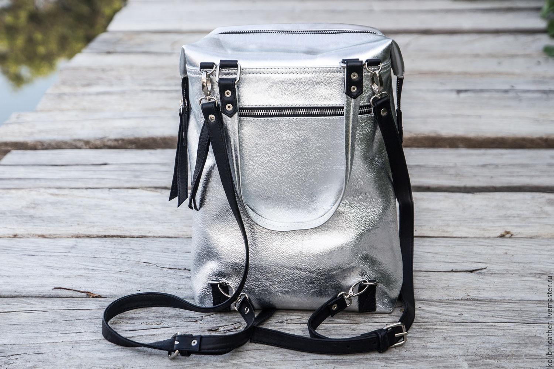 Handbags handmade. Livemaster - handmade. Buy Backpack genuine leather . Leather rucksack.Gift, bag handmade, urban backpack, leather