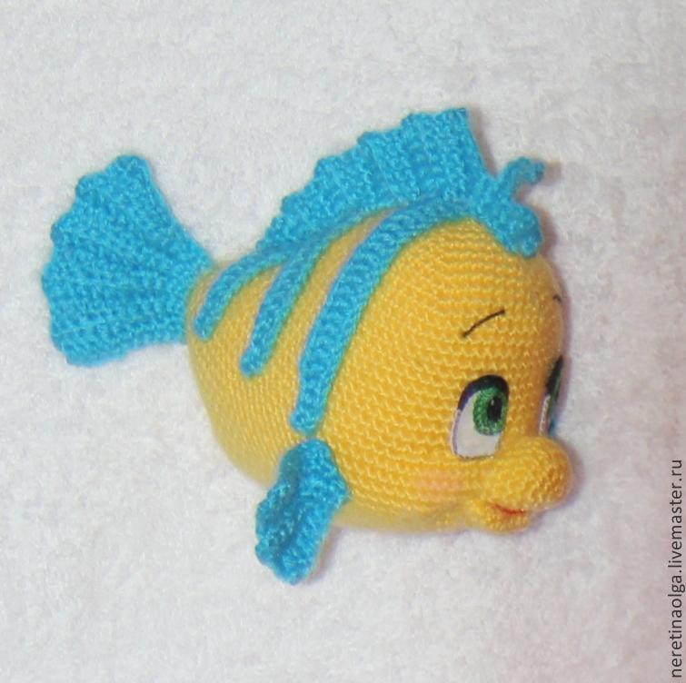 Вязание крючком рыбки 40