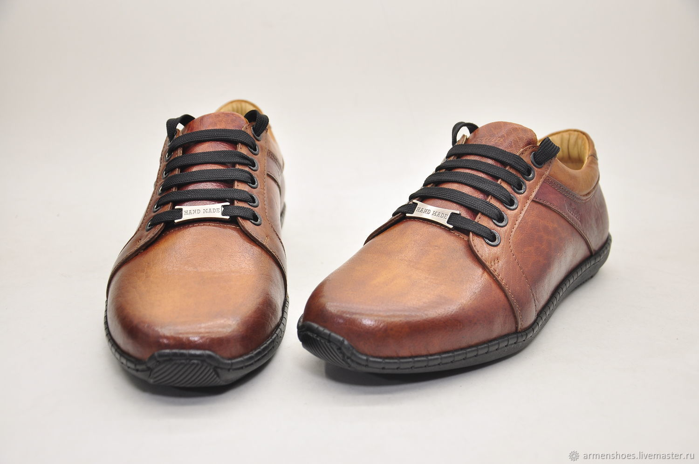 Men's sneakers, genuine leather, 100% handmade, Sneakers, Tosno,  Фото №1