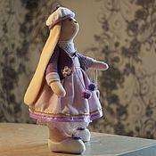 Тильда Зверята ручной работы. Ярмарка Мастеров - ручная работа Зайка с кулоном сердечко. Handmade.
