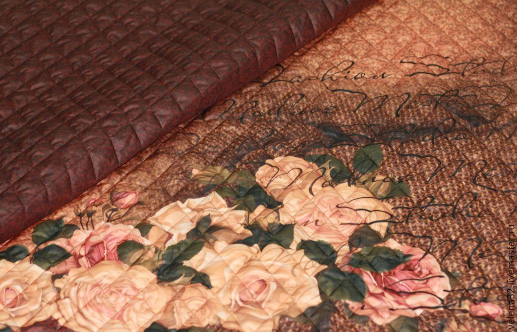 """Шитье ручной работы. Ярмарка Мастеров - ручная работа. Купить Шикарная курточная ткань """"Розы"""". Handmade. Зимняя куртка, пальтовая"""
