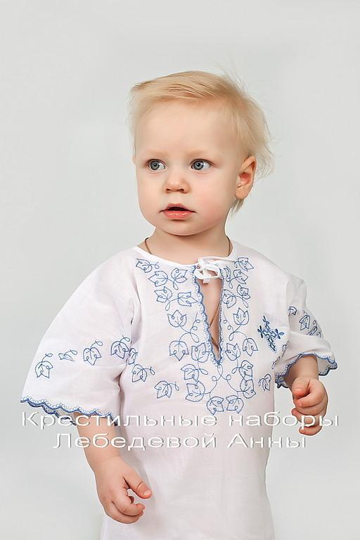 Крестильные принадлежности ручной работы. Ярмарка Мастеров - ручная работа. Купить Крестильная рубашка 88 С для мальчика. Handmade.